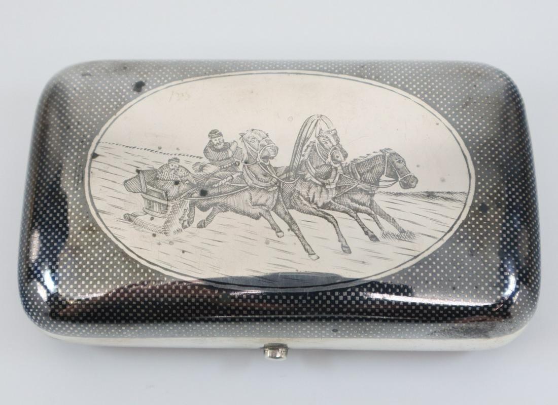 Russian .875 Silver Cigarette Case