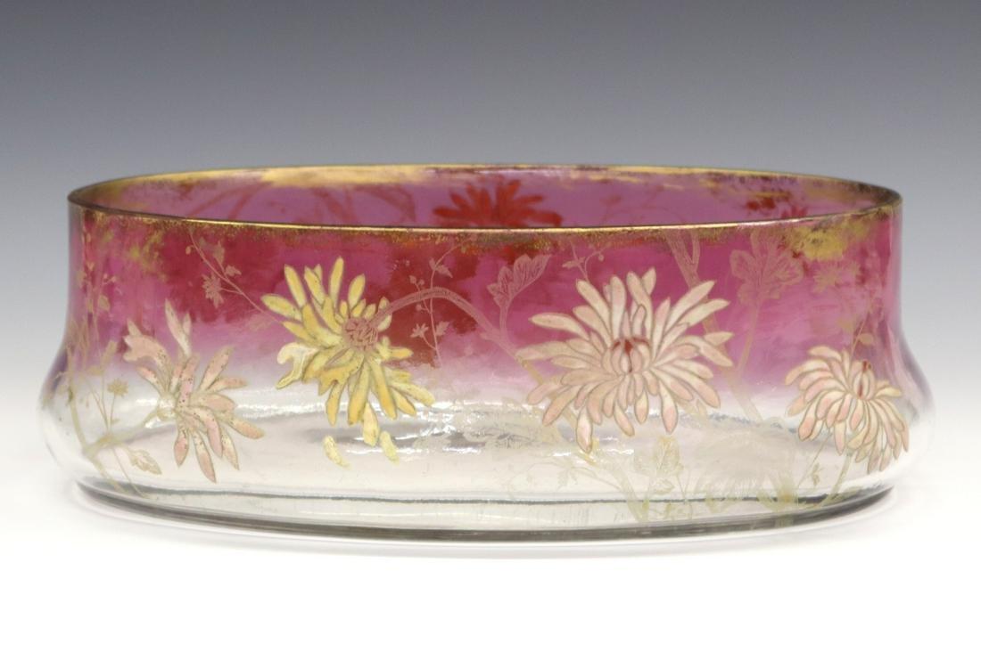 Enameled Glass Jardinière