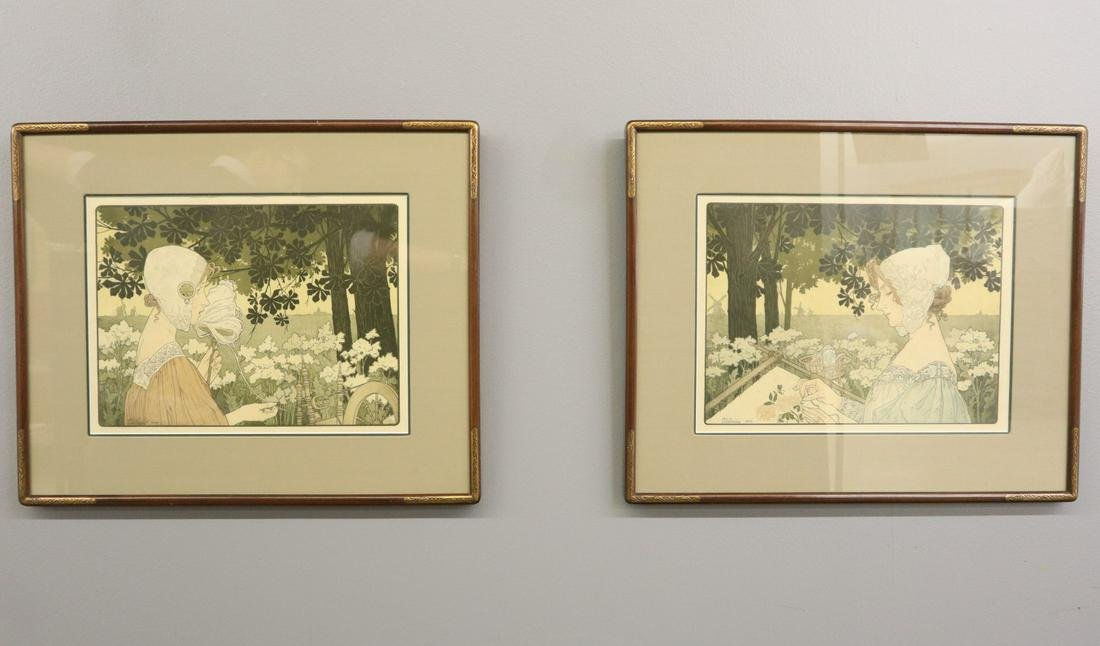 2 H. Privat-Livemont Art Nouveau Lithographs