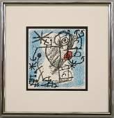 """Joan Miro Lithograph """"Les Essencies de la Terra"""""""