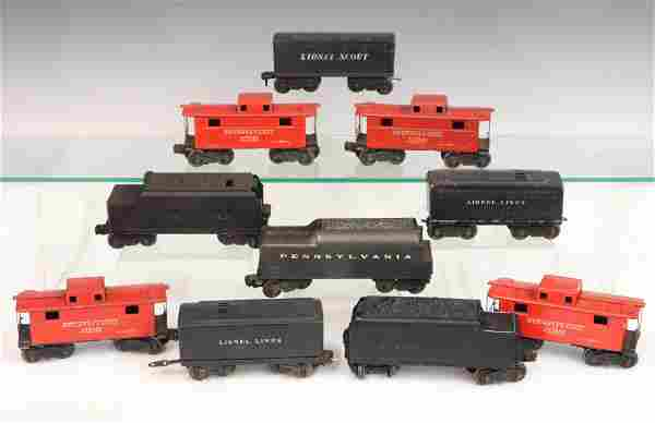 6 Lionel Tenders & 4 Cabooses