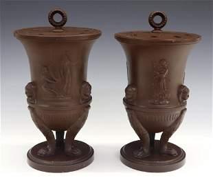 Pr. Neoclassical Potpourri Vases