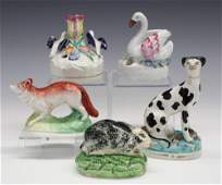 5 Pieces Of Staffordshire