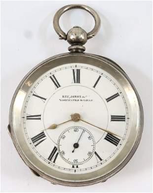 British Sterling Silver Pocket Watch