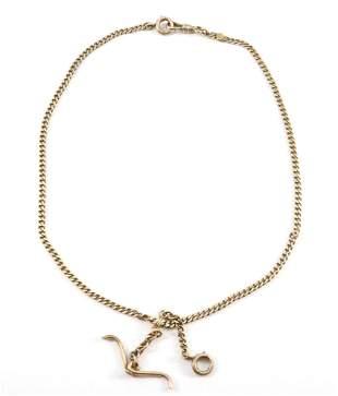 14k Gold Watch Chain