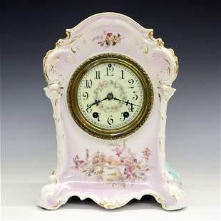 Waterbury Porcelain Case Clock