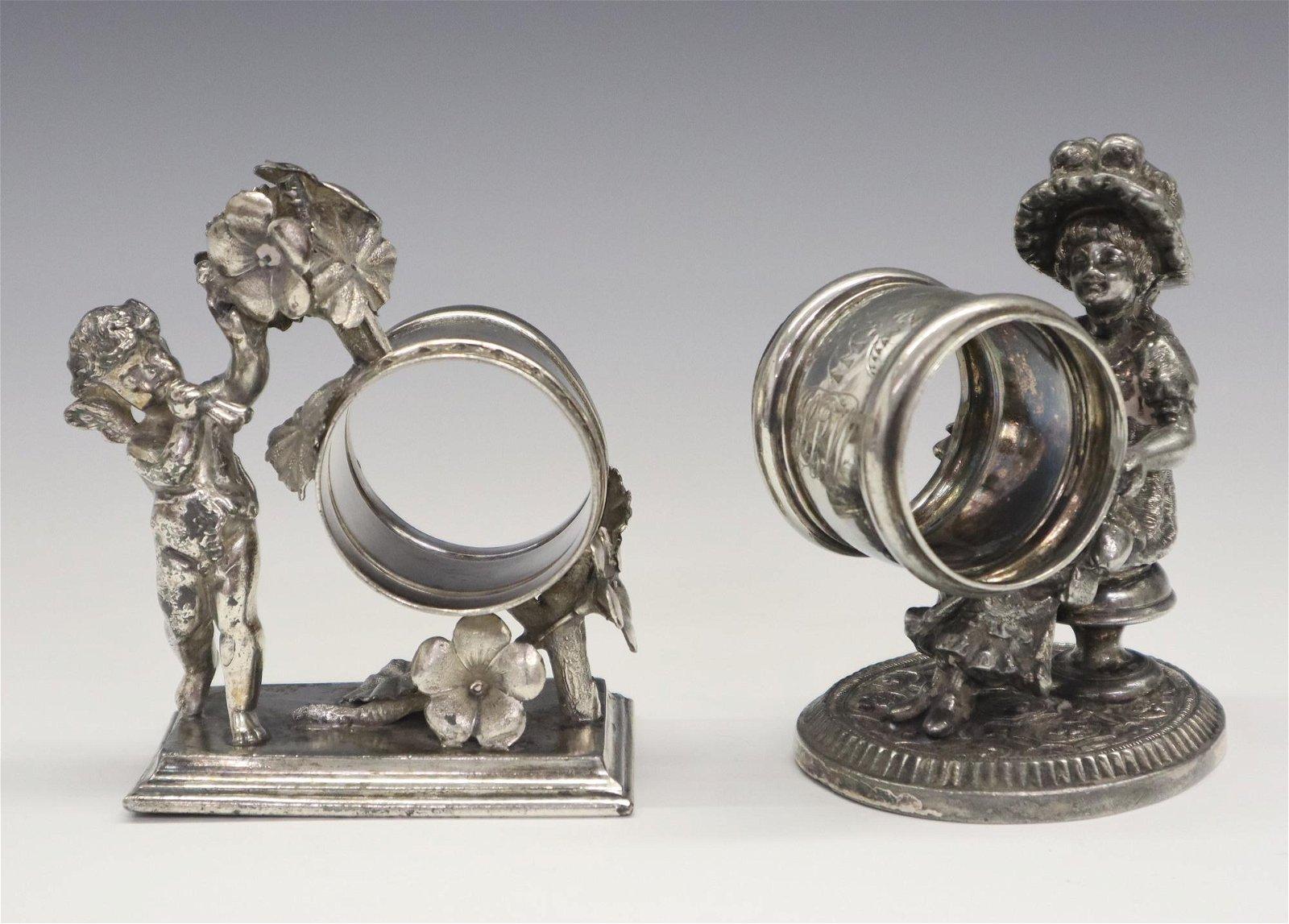 2 Figural Napkin Rings