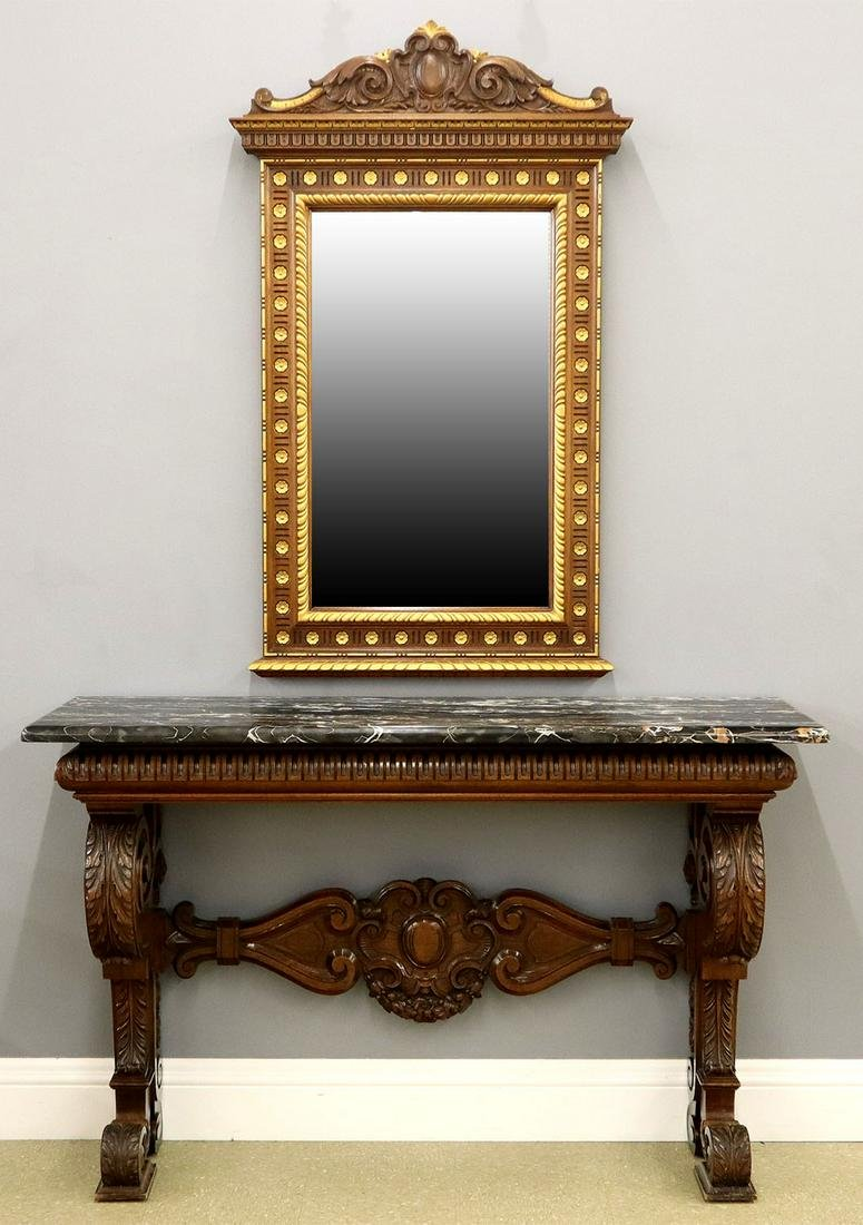 Tobey Furniture Co. Mirror and Console