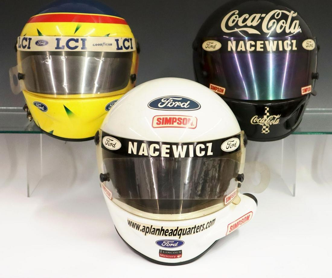3 Simpson Racing Helmets