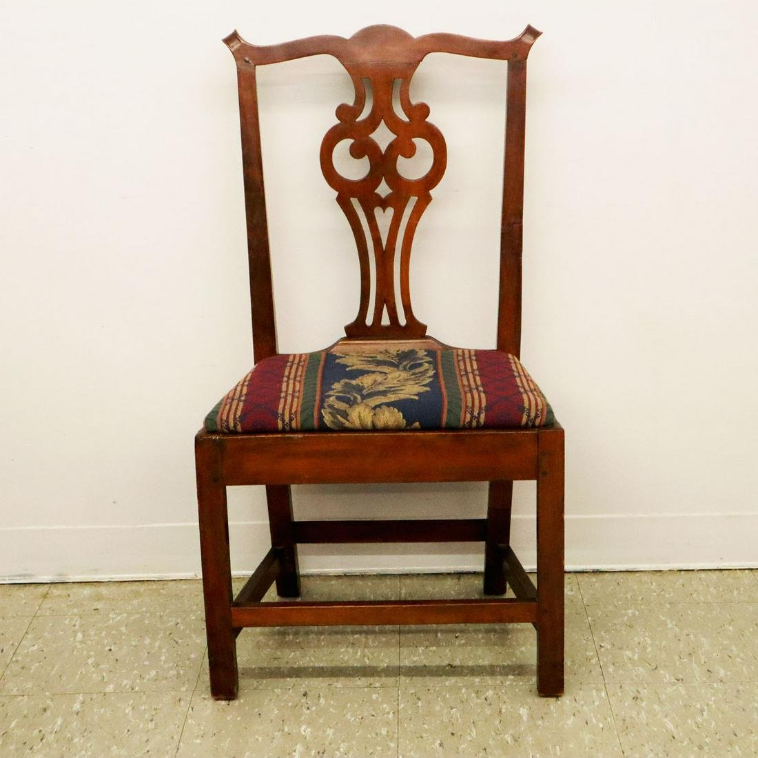 American Cherry & Birch Chippendale Side Chair