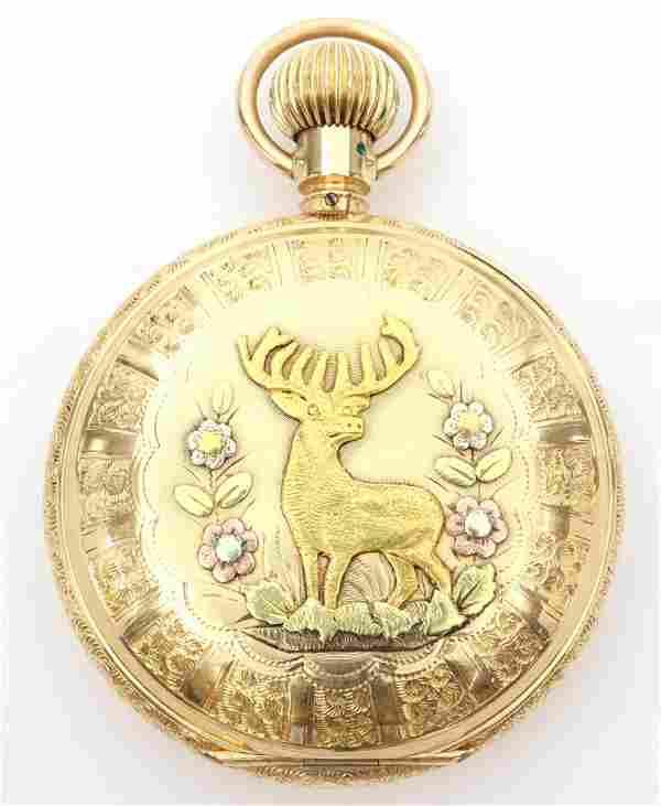 AWW Co. 14k Multi Gold Pocket Watch