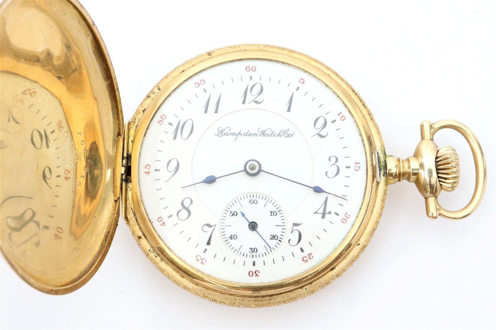 Hampden 14k Gold Pocket Watch