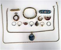 Collection of Gold Filled  Silver Jewelry