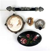 5 pcs Victorian  Edwardian Jewelry
