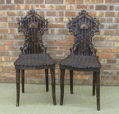 19: Pr Carved Chairs