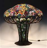 1970's Stained Glass Lamp