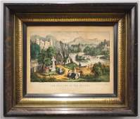 Currier & Ives Colored Engraving