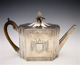 George III Sterling Teapot by Chawner