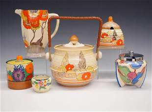 6 Pc of Clarice Cliff Earthenware