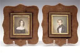 Pr Of Miniature Portraits