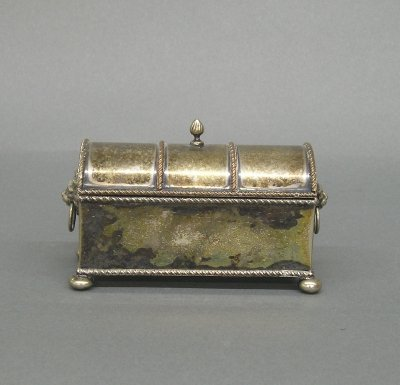 16: Silver plated inkwell