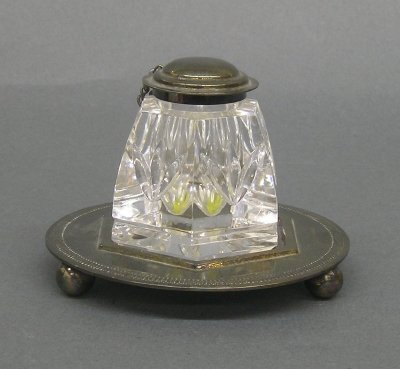 17: Waterford inkwell