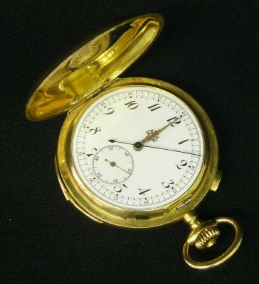 102: 18 k Swiss Gold repeater pocket watch