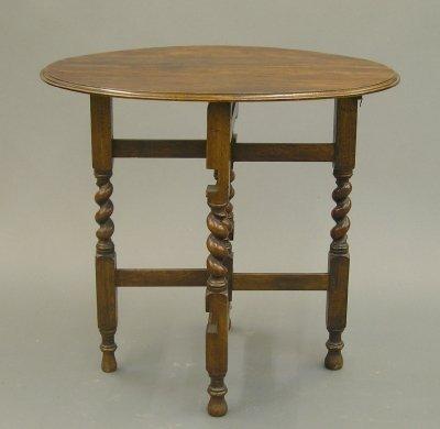 8: Oak tuckaway table