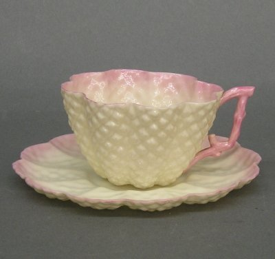 12: Belleek cup and saucer