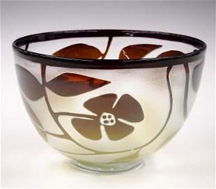 Kosta Boda Art Glass Bowl