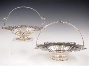 2 Silverplate Brides Baskets
