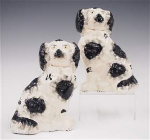 2 Staffordshire Dogs