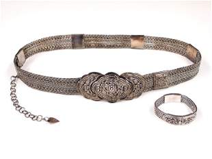 Thai Silver Belt & Bracelet