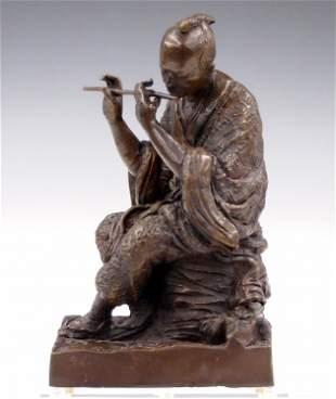 Japanese Cast Bronze Figure