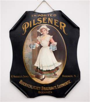 Rolled Tin Advertising Sign