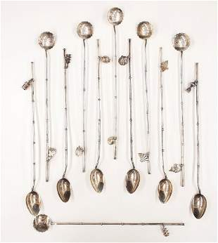 2 Sets of 6 Sterling Iced Tea Spoons/Straws