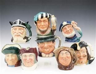8 Royal Doulton Character Mugs