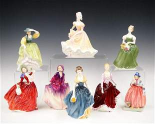8 Large Royal Doulton Figurines