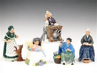 5 Large Royal Doulton Figurines