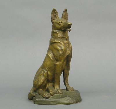 14: Bronze dog figure by Fiot