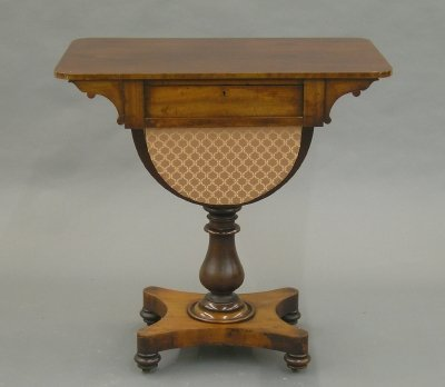 19: English Victorian sewing table