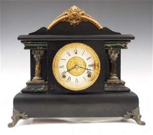 Gilbert Bellwood Black Mantel Clock