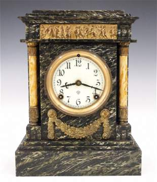 Ansonia St. Cloud Marble Mantel Clock