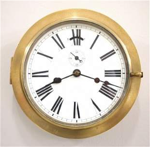 Seth Thomas Brass Ship's Clock