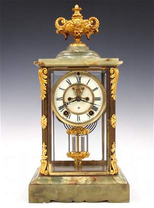 Ansonia Onyx Mantle Clock