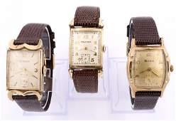 3 Vintage Gents Wristwatches