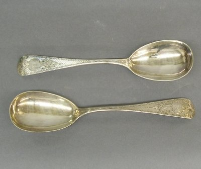 5: 2 Coin Silver spoons