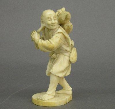 9: Carved Ivory figure