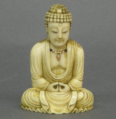 10: Carved Ivory Buddha