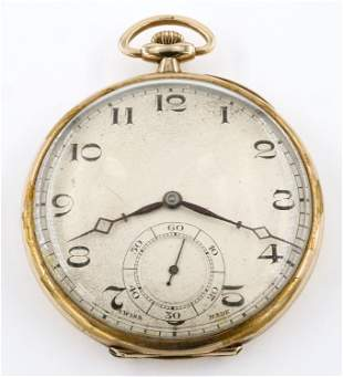 Le Phare 9k Gold Pocket Watch